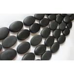 Looduslik must kivi, ovaalne 20x30mm