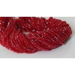 Klaaskristallid, punane 2x3mm