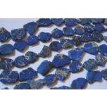 Jaspis Impeerial, sinine, erikujuline