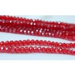 Klaaskristallid, punased 4x6mm